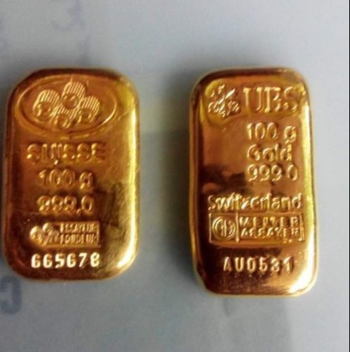 Golden Gold Bullion Bar Size 100gm Bars At Rs 33300 Gram Gold Bars Id 21394707048