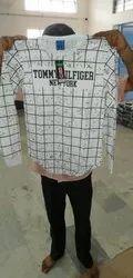 Men Printed Full Sleeve White T-Shirt