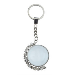 Round Half Diamond UV Keychains