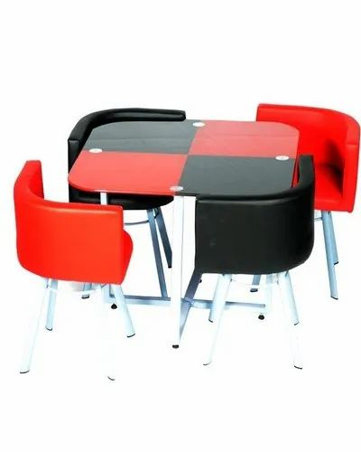 Red Black Four Seating Dining Table Home Furniture And Restaurants Use Dinette Small Sharon Av Furnitures Jaipur Id 20543543533