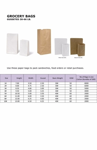 Wholesale Distributor of Paper Grocery Bags & Paper Grocery Color
