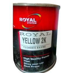 Royal System Yellow 2K Oil Base Paint, Packaging Type: Tin Can, Packaging Size: 3 Liter