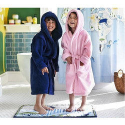 Pink And Blue Kids Plain Bathrobe 84b4e8155