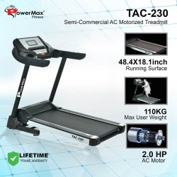 TAC-230 AC Motorized Treadmill With Autoincline And Mp3