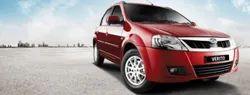 Red Mahindra Verito Car