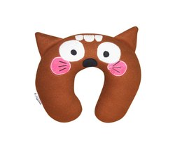Fleece Brown Back Neck Pillow, Size: For baby