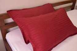 220tc satin stripe pillow cover