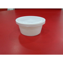 White Milky Plastic Container
