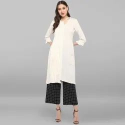 Off White Rayon Flex Kurta With Trouser(SET125)