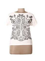 Women Black Embroidered Top