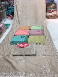 Cutwork saree