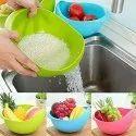 Kitchen Rice Washing Basket Organizer with Handle