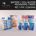 Battery Cell Blister Packaging Cards