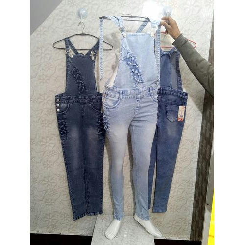 aa100d2e3ae Denim Full Length Ladies Fancy Blue Dungarees
