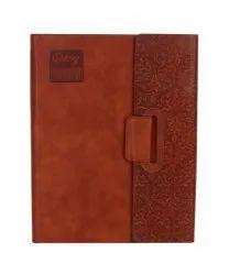 Natural PU Brown Color Designer Magnetic Diary