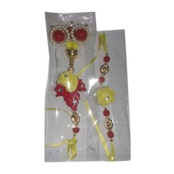 Beaded And Cotton Yes Designer Beaded Handmade Rakhi