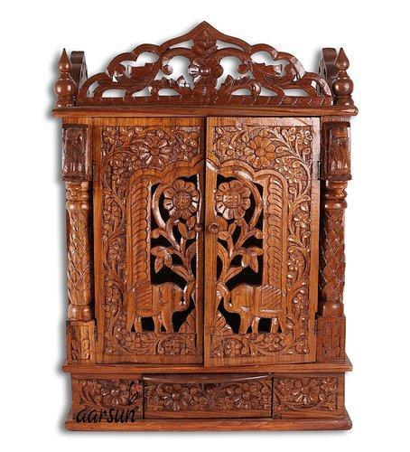 Temple Texas Traditional Home: And Sheesham Wood Traditional Handcrafted Wooden Temple
