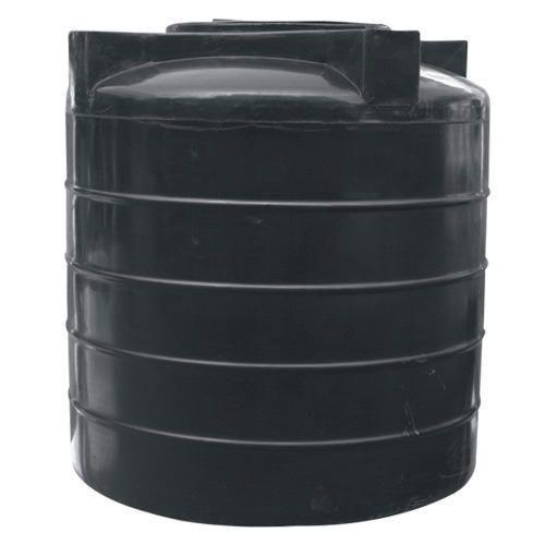 Black Plastic Water Tank Storage Capacity 500 L Rs