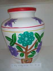 CLAY WATER POT BUTTERFLY 16T
