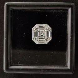 Asscher Shape Pie Cut CVD / HPHT Lab Grown Diamond