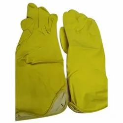 Yellow Industrial Rubber Gloves