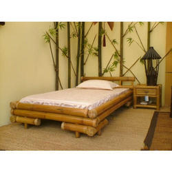 Polished Brown Bamboo Bed