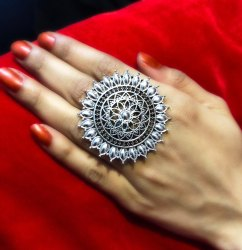 Fancy Oxidized Ring For Girls