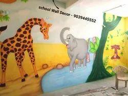 School Classroom & Wall Painting Decoration