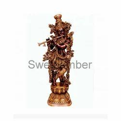 Brass Lord Krishna Statue