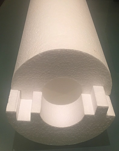 Eps Pipe Section Insulation Thickness Variable Size