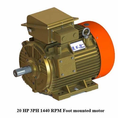 Kirloskar 20 Hp 3ph 1440 Rpm Foot Mounted Motor