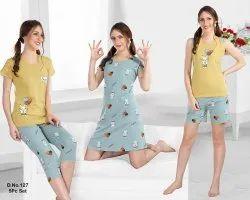 Short Length Hosiery KuuKee 5 Pcs Night Wear Set, Adults
