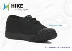Black Canvas School Shoes
