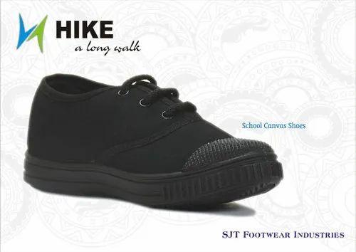 Black Canvas School Shoes