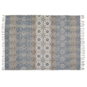Faded Print Cotton Area Rug