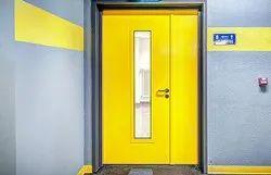 Yellow Colored Coated Fire Door