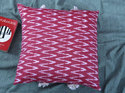 Cotton Ikat With Block Printed Cushion Cover