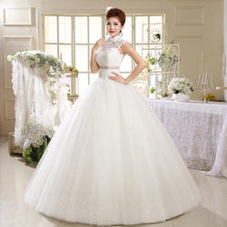 Red And White Medium And XL Gownlink Christians Wedding Gown Catholic Gowns White Wedding Frock Hs537