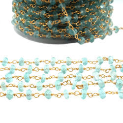 Apatite Gemstone Rosary Beaded Chains