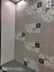 Multicolor Ceramic Tiles Bathroom Wall Tile, Thickness: 0-5 mm