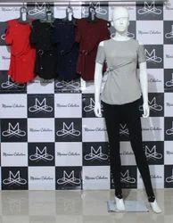 Missimo Collection Plain Girls Chamki Tops, Size: Medium