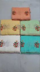 Kota Embroidery Saree with Blouse