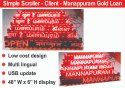 Kamal & Co. Scrolling Displays, Shape: Rectangle, 150 Mtrs