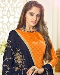 Unstitched Banarasi Party Wear Salwar Suit