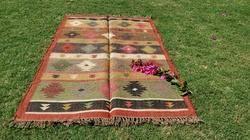 Natural Jute Rug/ Carpet - Jute Dhurrie - Jute Area Rug - Eco-Friendly Dhurrie