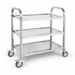 Ss Metal Trolley, for Hospital, Industrial