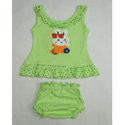 Cotton Baby Sleeveless Top And Shorts