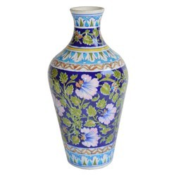Blue Pottery Flower Pot
