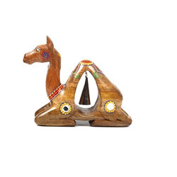 Wooden Camel Showpiece