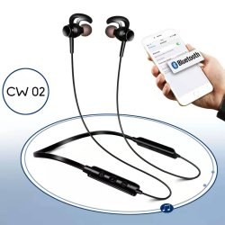 Cult Black Bluetooth Neckband Genuine Silicon Buds, Model Name/Number: Cw 02